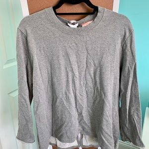 Wishful Thinking Lace up Back Sweatshirt